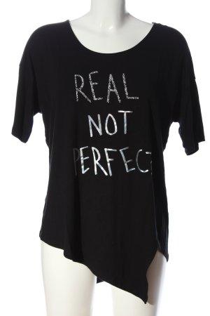 Desigual Print-Shirt schwarz-weiß Motivdruck Casual-Look