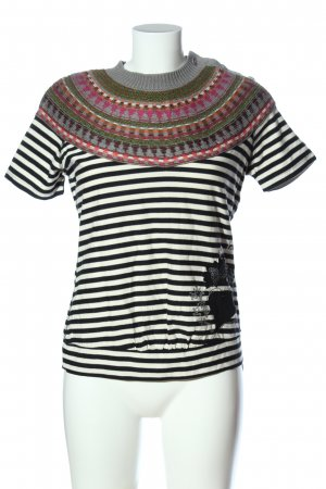 Desigual Kurzarm-Bluse grafisches Muster Casual-Look