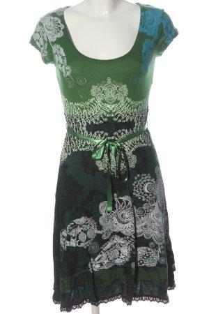 Desigual Vestido de manga corta estampado con diseño abstracto look casual