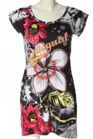 Desigual Kurzarmkleid Blumenmuster Casual-Look
