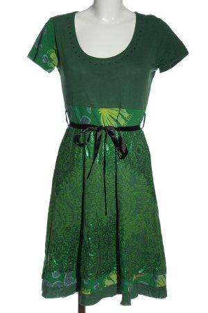 Desigual Sukienka z krótkim rękawem zielony Na całej powierzchni
