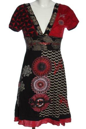 Desigual Sukienka z krótkim rękawem Na całej powierzchni W stylu casual