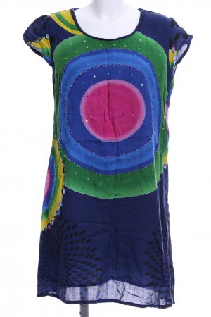 Desigual Kurzarmkleid grafisches Muster Casual-Look