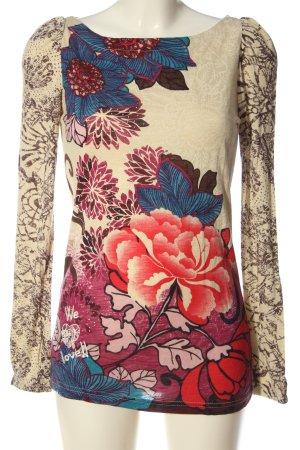 Desigual Blusa de manga larga estampado floral elegante