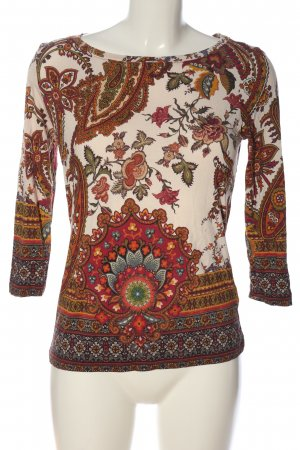 Desigual Langarm-Bluse wollweiß-rot Allover-Druck Casual-Look