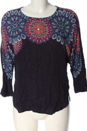 Desigual Langarm-Bluse grafisches Muster Casual-Look