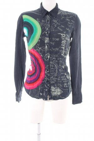 Desigual Langarmhemd grafisches Muster Casual-Look