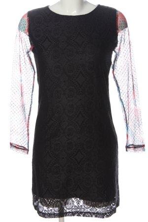 Desigual Vestido de manga larga negro elegante