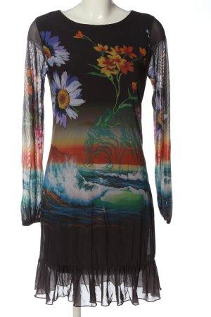 Desigual Robe à manches longues imprimé avec thème style mode des rues