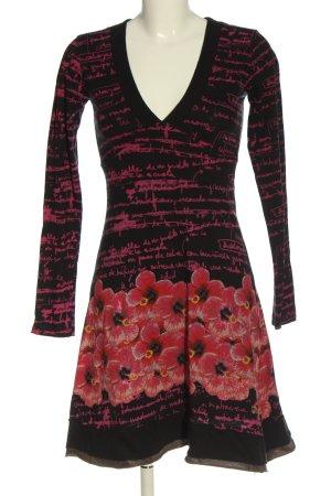 Desigual Sukienka z długim rękawem Na całej powierzchni W stylu casual