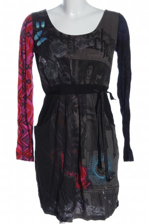 Desigual Langarmkleid Allover-Druck Casual-Look