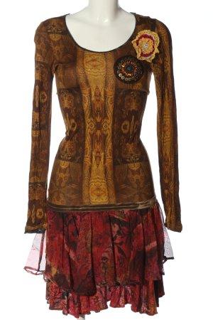 Desigual Robe à manches longues motif abstrait élégant