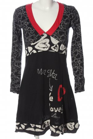 Desigual Longsleeve Dress themed print casual look