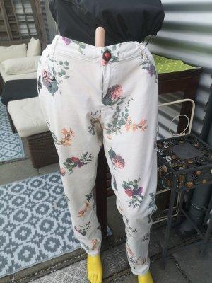 Desigual Jeansy z prostymi nogawkami kremowy