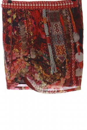 Desigual Linen Skirt abstract pattern casual look
