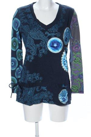 Desigual Lang shirt abstract patroon casual uitstraling