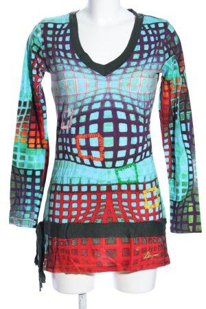 Desigual Longshirt abstraktes Muster Casual-Look