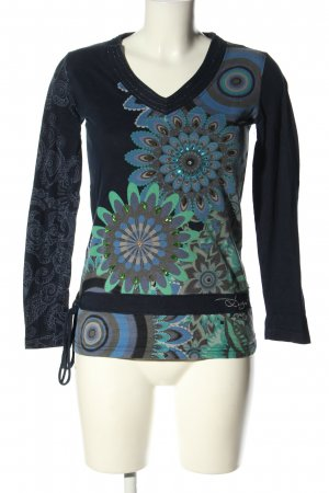 Desigual Longsleeve grafisches Muster Casual-Look