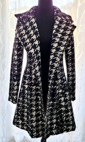 Desigual Long Jacket white-black