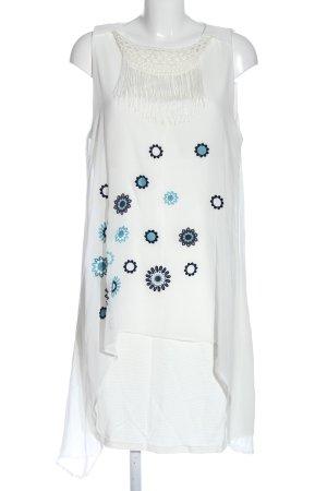 Desigual Robe mi-longue motif de fleur style décontracté