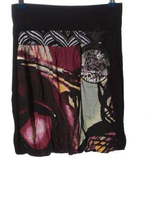 Desigual Spódnica ze stretchu Abstrakcyjny wzór W stylu casual