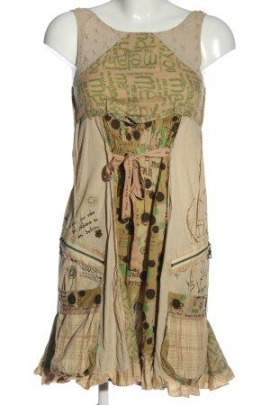 Desigual Minikleid nude-grün Allover-Druck Casual-Look