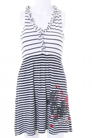 Desigual Minikleid weiß-schwarz Streifenmuster Casual-Look