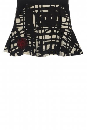 Desigual Miniskirt black-white abstract pattern casual look