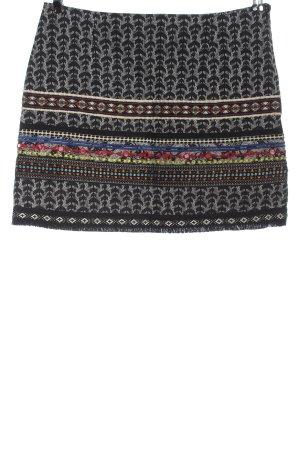 Desigual Mini-jupe noir motif abstrait style décontracté