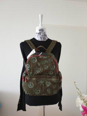 Desigual Daypack brick red-green grey