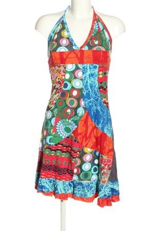 Desigual Sukienka z dekoltem typu halter Abstrakcyjny wzór W stylu casual