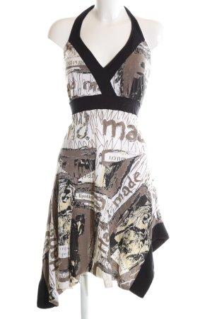 Desigual Vestido de cuello Halter estampado con diseño abstracto estilo fiesta