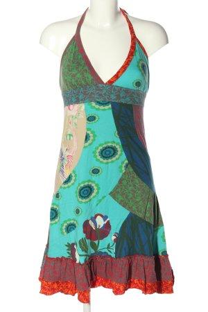 Desigual Robe dos-nu Mélange de motifs style décontracté