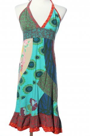 Desigual Halter Dress mixed pattern casual look