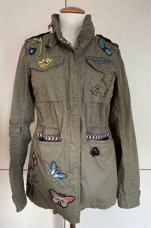 Desigual Military Jacket green grey cotton