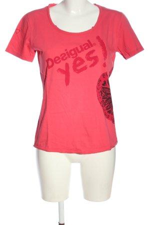 Desigual Print-Shirt rot-schwarz Motivdruck Casual-Look