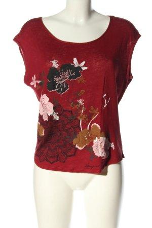 Desigual Print-Shirt Blumenmuster Casual-Look