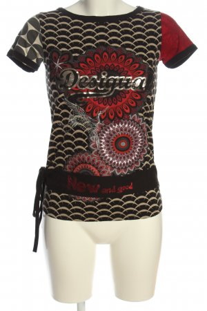 Desigual Print-Shirt Allover-Druck Casual-Look