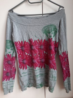 Desigual Fleece Jumper silver-colored