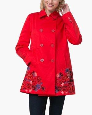 Desigual Płaszcz przeciwdeszczowy czerwony