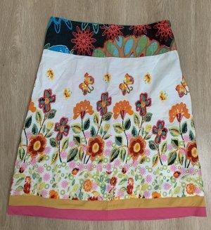 Desigual Falda de lino multicolor