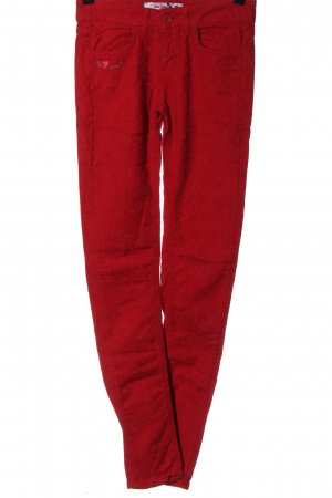 Desigual Drainpipe Trousers red casual look