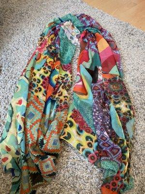 Desigual Écharpe d'été multicolore