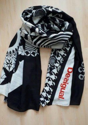 Desigual Pañoleta blanco-negro