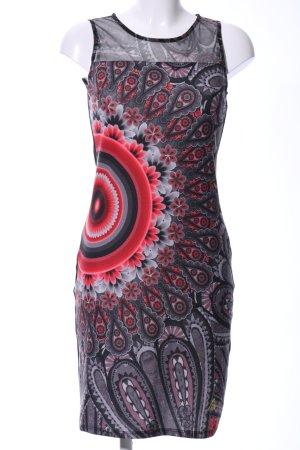Desigual Robe tube motif de fleur élégant
