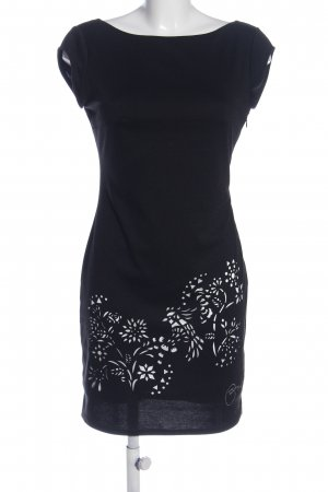 Desigual Tube Dress black-white flower pattern business style