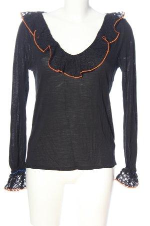 Desigual Schlupf-Bluse schwarz Casual-Look
