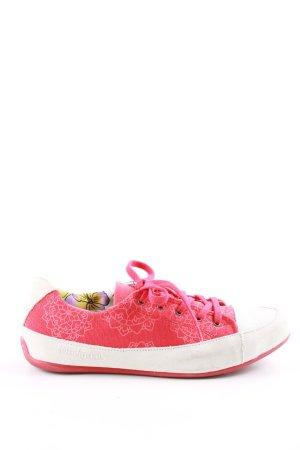 Desigual Schnürsneaker pink-wollweiß Blumenmuster Casual-Look