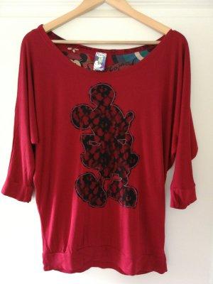 Desigual Camicia oversize rosso scuro