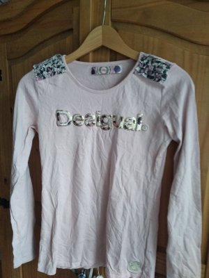 Desigual T-shirt color oro rosa-rosa pallido